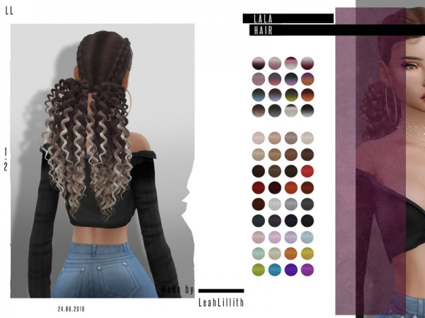 The Sims Resource: Lala hair by LeahLillith for Sims 4