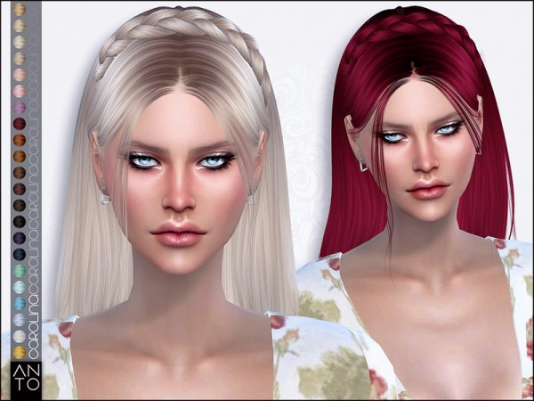 The Sims Resource: Carolina hair by Anto for Sims 4