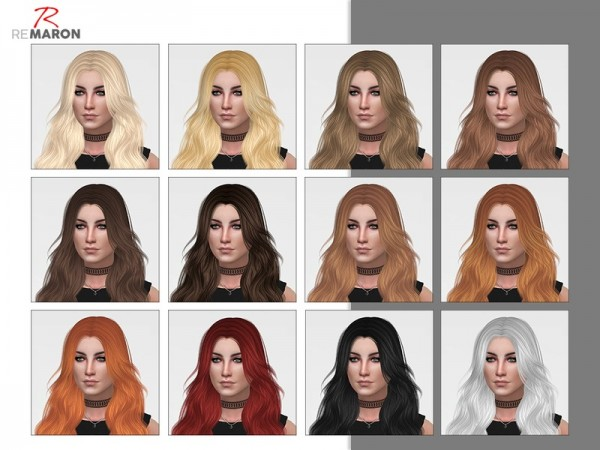 The Sims Resource: Laurie Hair 001 Retextured by remaron for Sims 4