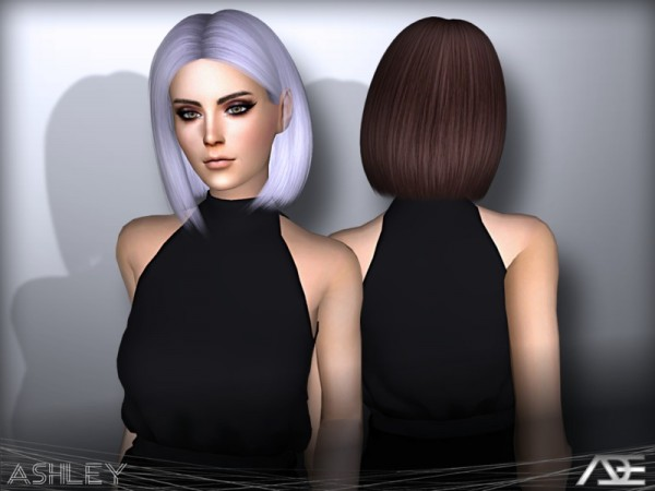 The Sims Resource: Ashley hair by Ade Darma for Sims 4