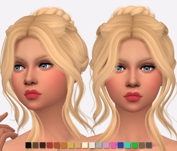 Simlish Designs: Wings Hair OS0514 Retextured for Sims 4
