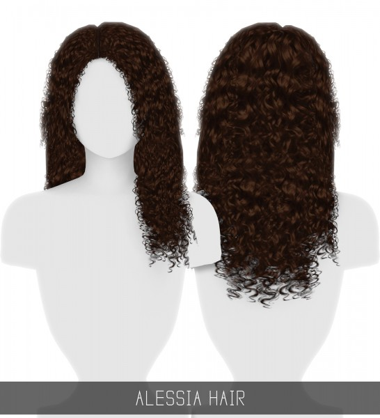 Simpliciaty: Alessia hair for Sims 4