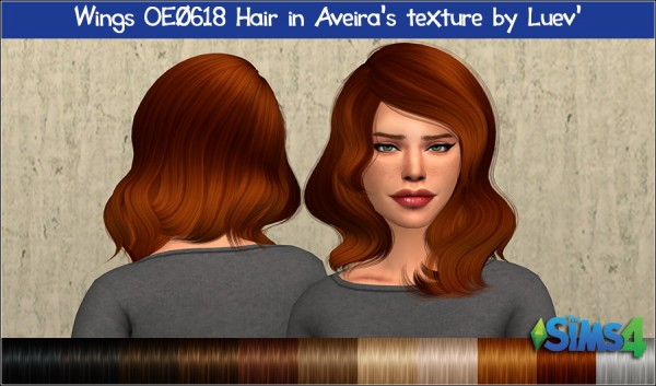 Mertiuza: Wings OE0618 hair retextured for Sims 4