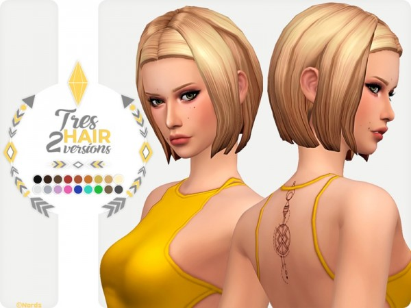 The Sims Resource: Tres Hair by Nords for Sims 4