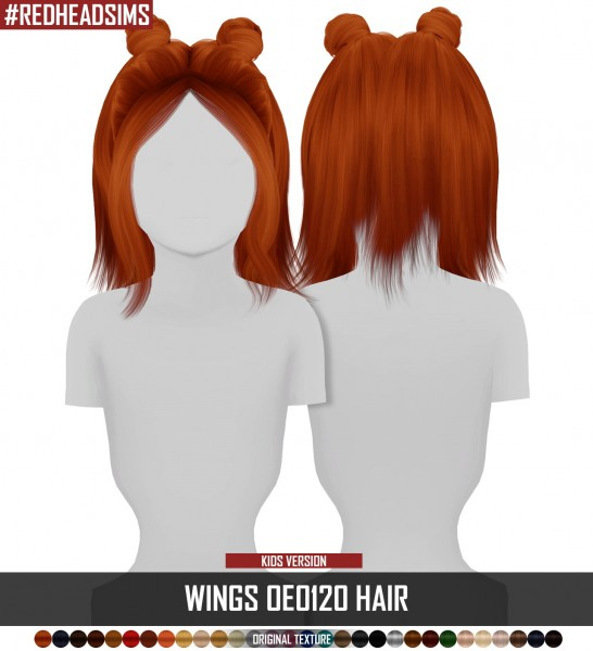 Coupure Electrique: Wings OE0120 hair retextured   Kids Version for Sims 4