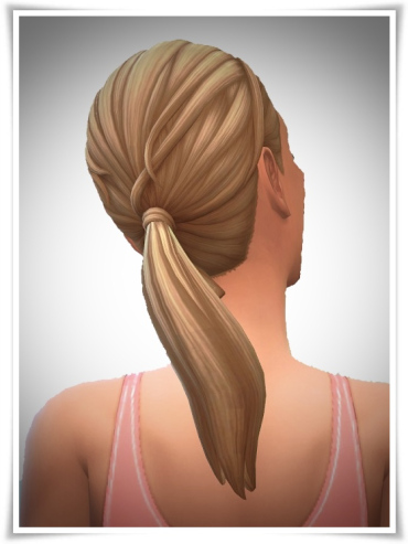 Birksches sims blog: LadyFu Ponytail hair for Sims 4