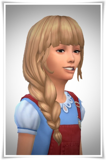 Birksches sims blog: Side Braid Loose Hair for Sims 4