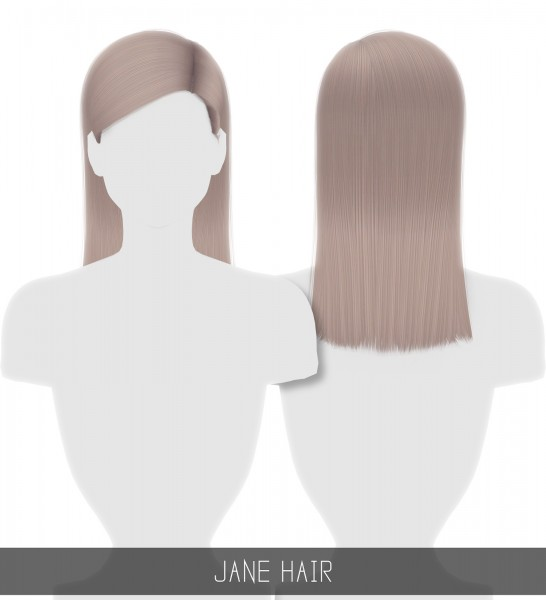 Simpliciaty: Jane hair for Sims 4
