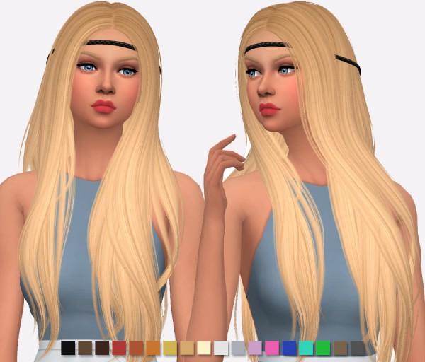 Simlish Designs: Nightcrawler`s Sunny Hair Retextured for Sims 4