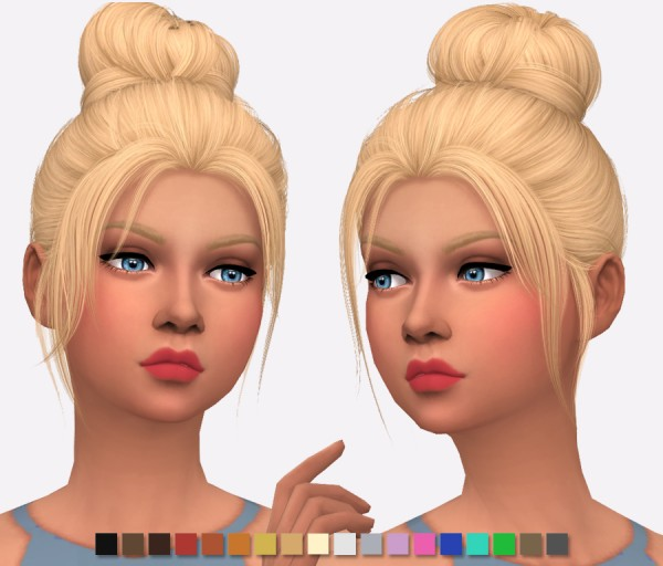Simlish Designs: Nightcrawler`s Impulse Hair Retextured for Sims 4