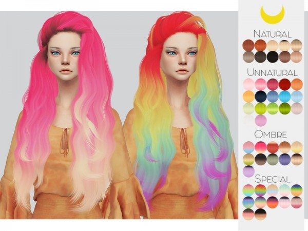 The Sims Resource: Stealthic`s Sirens hair retextured by Kalewa a for Sims 4