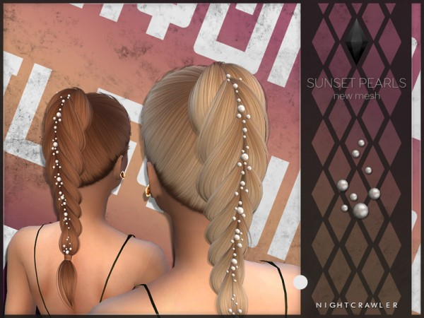 The Sims Resource: Sunset Pearls by Nightcrawler for Sims 4