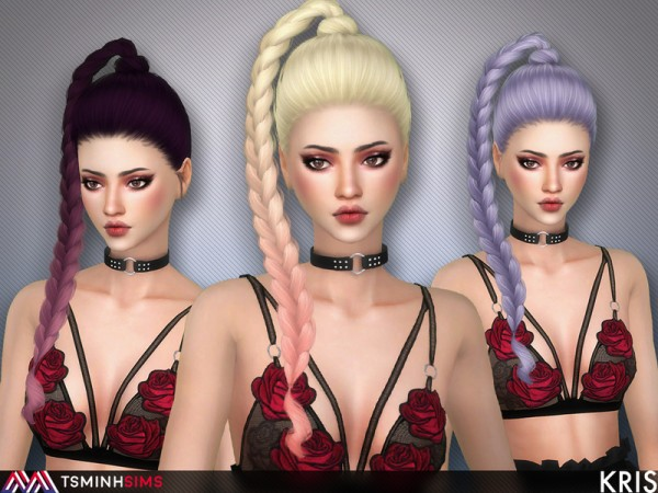 The Sims Resource: Kris Hair 61by Tsminh Sims for Sims 4