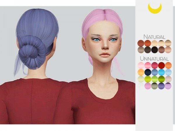 The Sims Resource: LeahLillith`s Selena hair retetured by Kalewa a for Sims 4