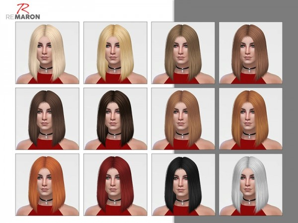 The Sims Resource: Polly 001 hair retextured by remaron for Sims 4