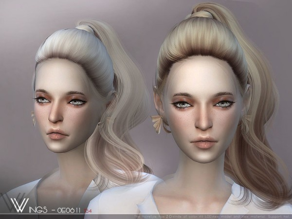 The Sims Resource: WINGS OE0611 hair for Sims 4