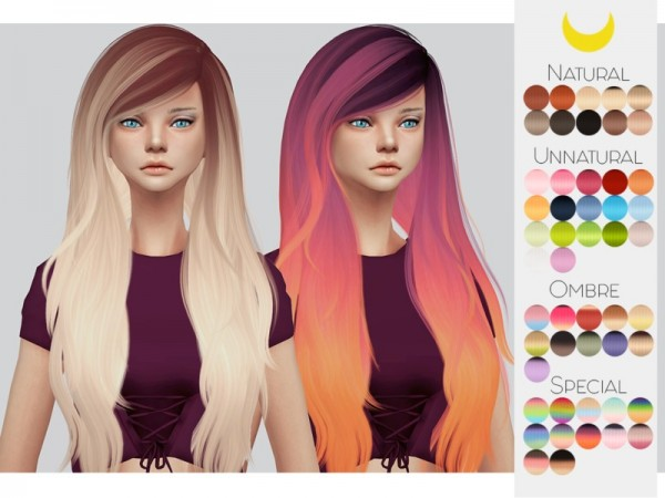 The Sims Resource: Stealthic`s Fairytale hair retextured by kalewa a for Sims 4