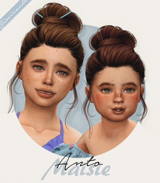 Simiracle: Anto`s Maisie hair retextured for Sims 4