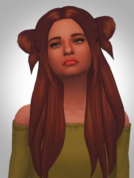 Kismet Sims: Mother love bone hair V2 for Sims 4