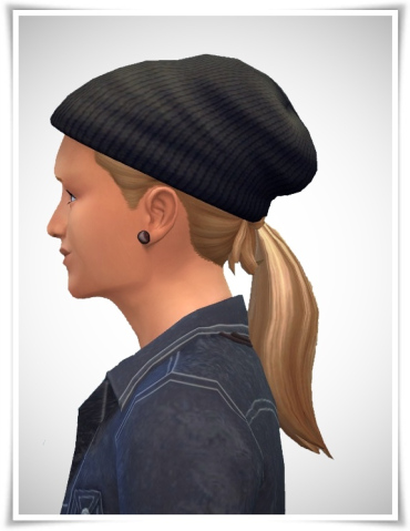Birksches sims blog: FuSion Ponytail hair for Sims 4