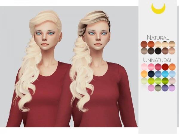 The Sims Resource: Stealthic`s Persephone hair retextured by kalewa a for Sims 4