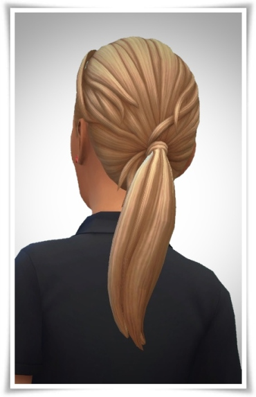 Birksches sims blog: Daniels Ponytail hair for Sims 4