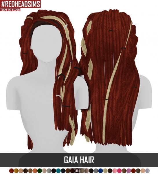 Coupure Electrique: Gaia hair braided version hair for Sims 4