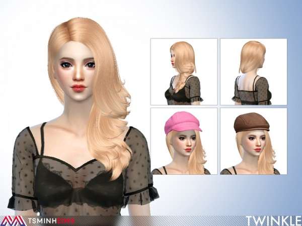 The Sims Resource: Twinkle Hair 65 by TsminhSims for Sims 4