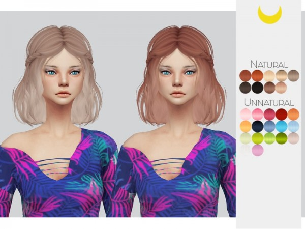 The Sims Resource: LeahLillith`s Soundwave hair retextured by kalewa a for Sims 4