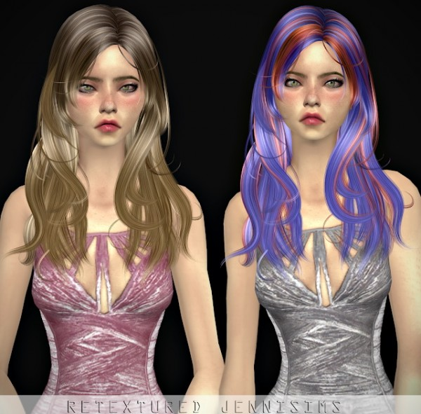 Jenni Sims: Newsea Jordan hair retextured for Sims 4