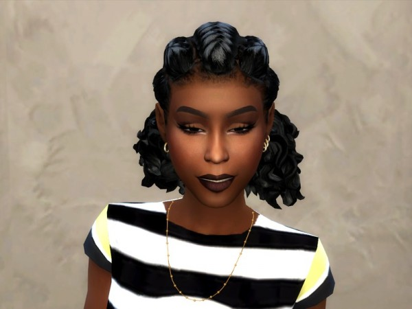 The Sims Resource: Goddess Pullback hair retextured by drteekaycee for Sims 4