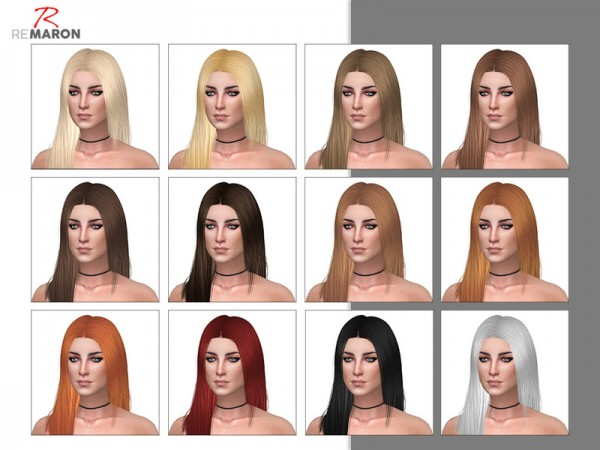 The Sims Resource: LeahLillith`s Shyene hair retextured by Remaron for Sims 4