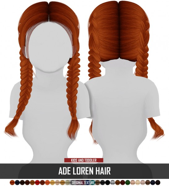 Coupure Electrique: AdeDarma`s Lored hair retextured   kids and toddlers version for Sims 4