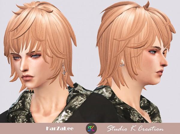 Studio K Creation: Animate hair 95 Zen for Sims 4