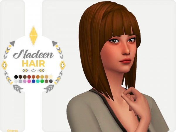 The Sims Resource: Nadeen Hair by Nords for Sims 4
