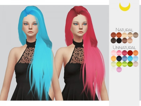 The Sims Resource: Stealthic`s Eden hair retextured by Kalewa a for Sims 4