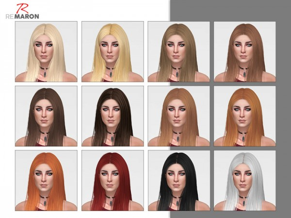 The Sims Resource: Wings OS0530 Hair Retextured by remaron for Sims 4