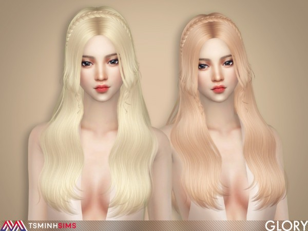 The Sims Resource: Glory Hair 64 by TsminhSims for Sims 4