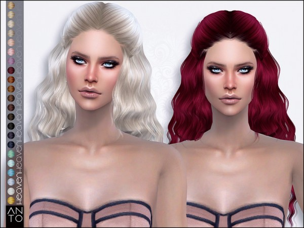 The Sims Resource: Heaven hair by Anto for Sims 4