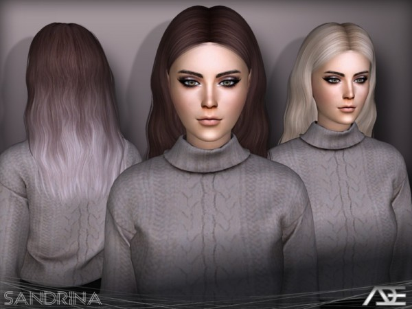 The Sims Resource: Sandrina hair by Ade Darma for Sims 4