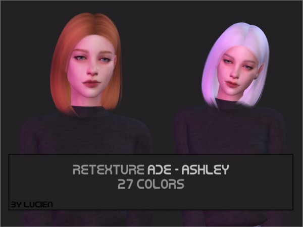 The Sims Resource: AdeDarma`s Ashley hair retextured by Lucien for Sims 4