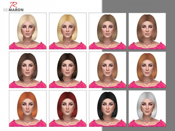 The Sims Resource: Anto`s Ashley hair retextured by Remaron for Sims 4