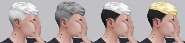 Simduction: Felix hair recolored for Sims 4
