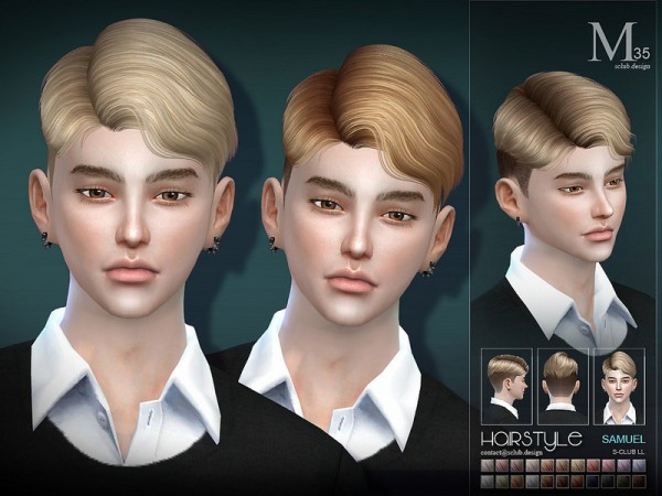 The Sims Resource: Samuel n35 hair by S Club for Sims 4