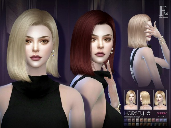 The Sims Resource: Sunny n34 hair by S Club for Sims 4