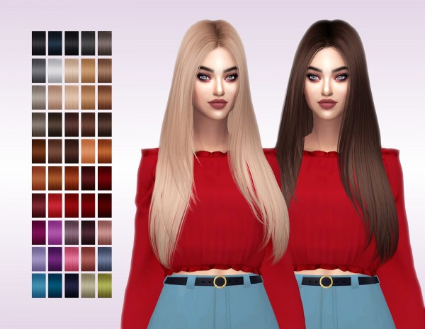 Frost Sims 4: Butterfly`s 123 hair retextured for Sims 4