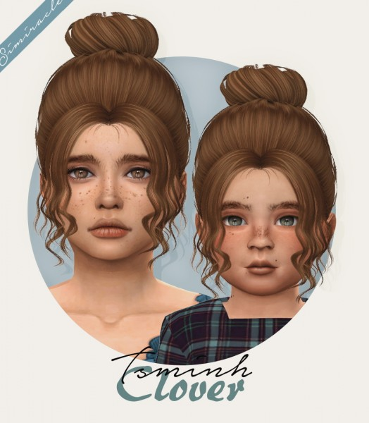 Simiracle: Tsminh`s Clover hair retextured for Sims 4