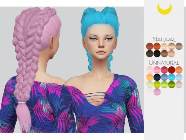 The Sims Resource: LeahLillith`s Nightrunner hair retextured by kalewa a for Sims 4