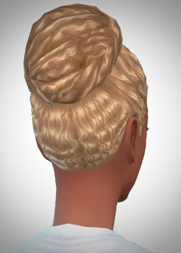 Birksches sims blog: Mid Wave Knot hair for Sims 4