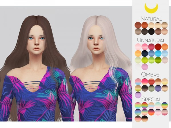 The Sims Resource: LeahLillith`s Anastasia hair retextured by Kalewa a for Sims 4